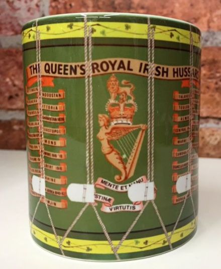 Queen's Royal Irish Hussars Drum Mug